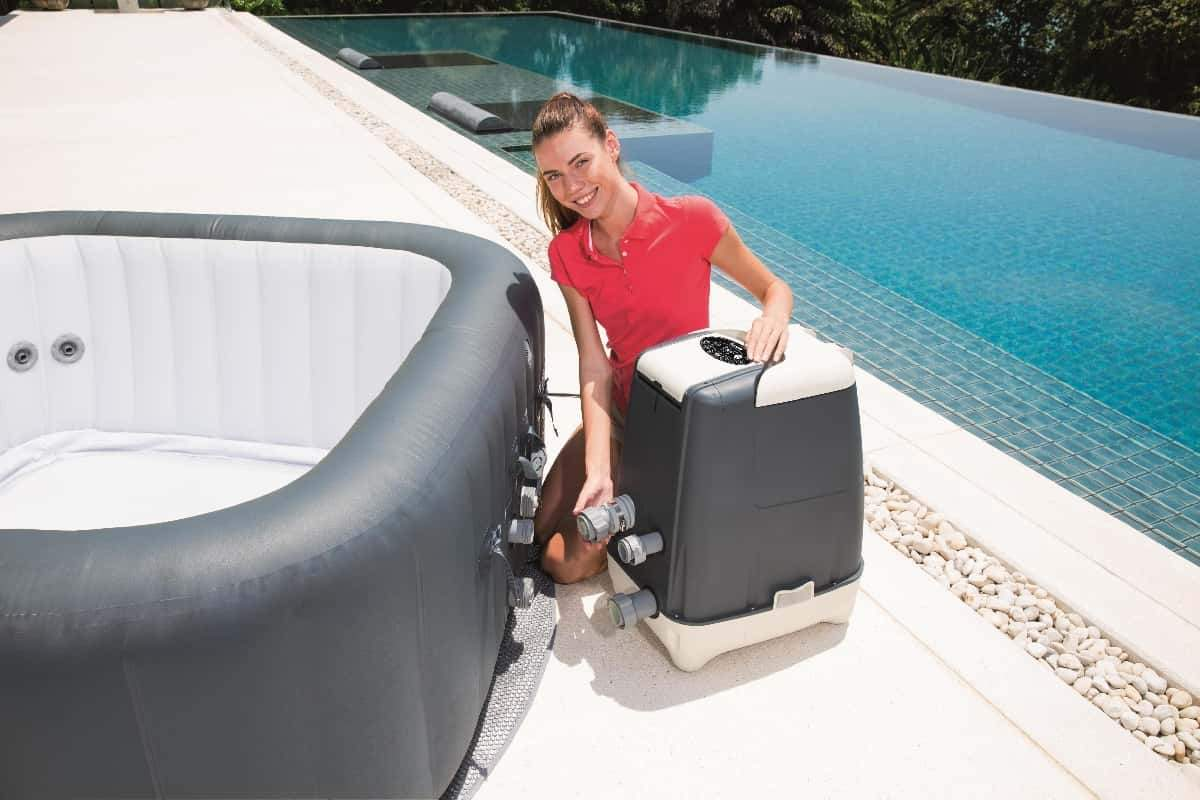 Bestway Lay Z Spa Hawaii HydroJet Pro anchluss lOiO1P7XChGMp